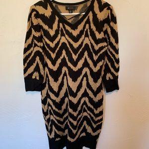 Safari print sweater dress